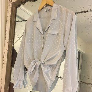 Vintage Lila Button Down Shirt